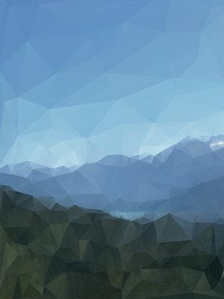 Rainbow Lake - print