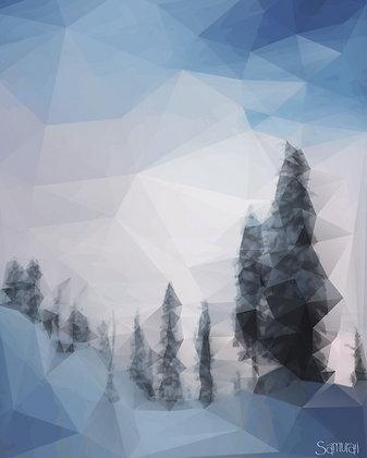 Crystal Trees - print