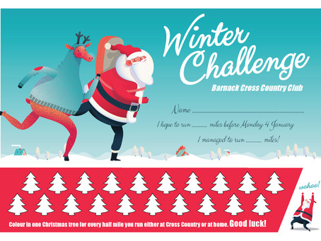 WINTER CHALLENGE IS HERE!! FOR CROSS COUNTRY CLUB ONLY