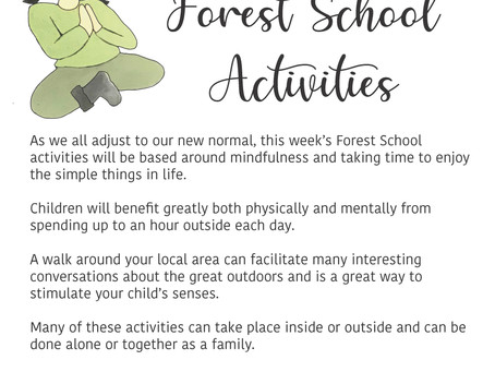 FOREST SCHOOL HOME LEARNING