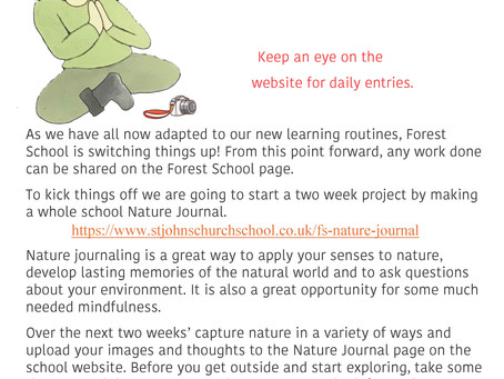 NATURE JOURNAL PROJECT STARTS TODAY!