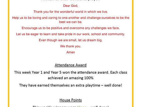 Golden Child Assembly Friday 25th September 2020