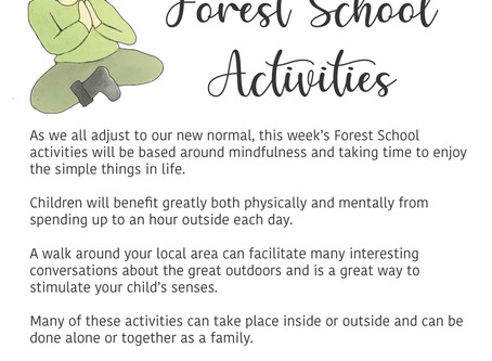 FOREST SCHOOL - HOME LEARNING