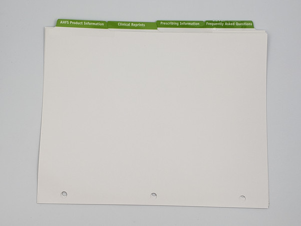 PMS on Uncoated Stock with 1/4 Tab Extension