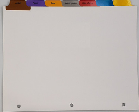 Custom Tabs with Print and Blank