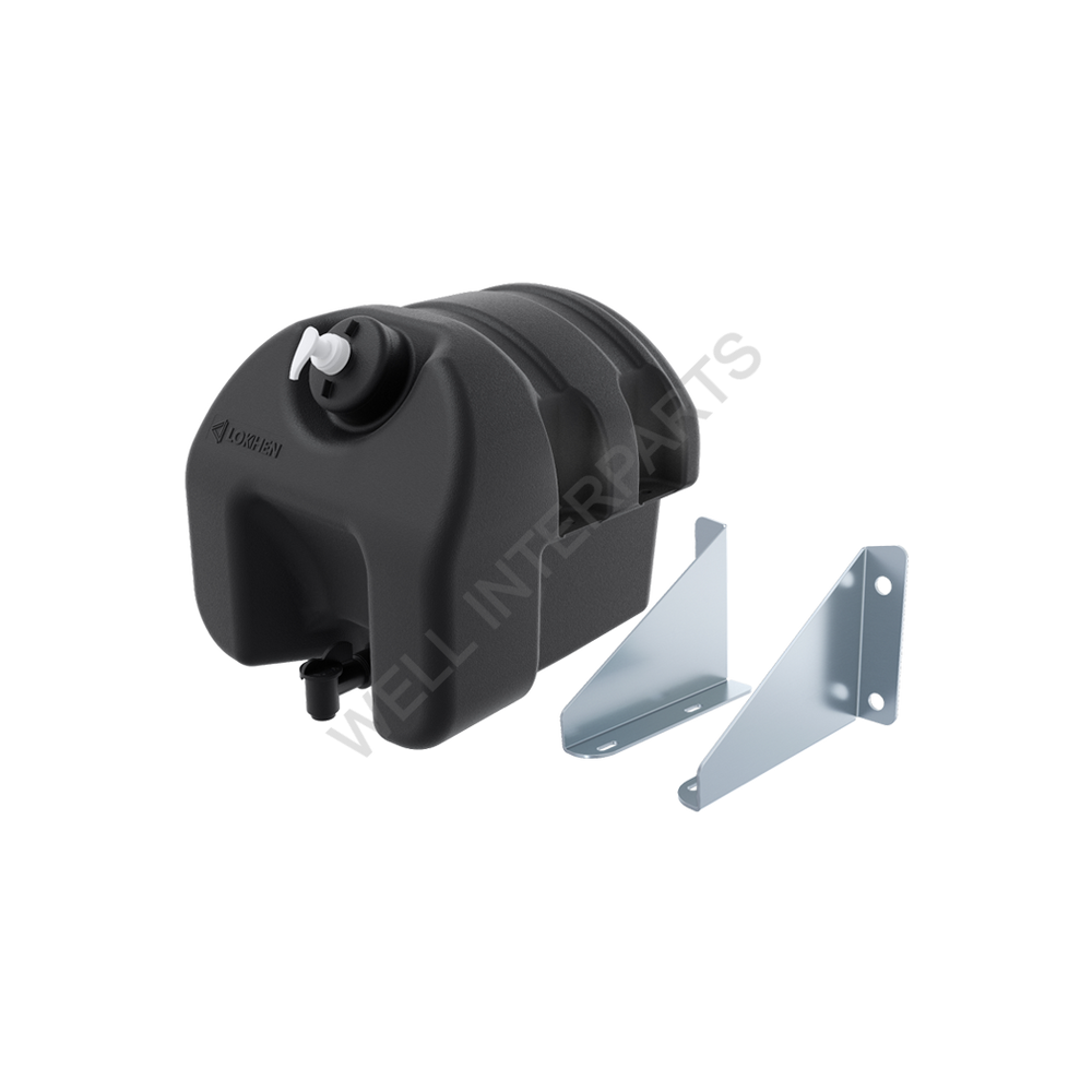WATER TANK IN BLACK PLASTIC WITH SOAP 18 LT.