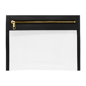 Clear Pouch - Black Saffiano Gold.png