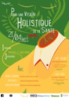 """affiche """"pour une vision holistique de la santé"""""""