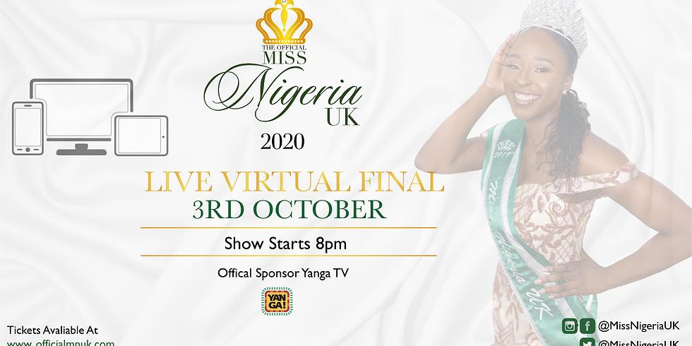 Miss Nigeria UK 2020 Live Final