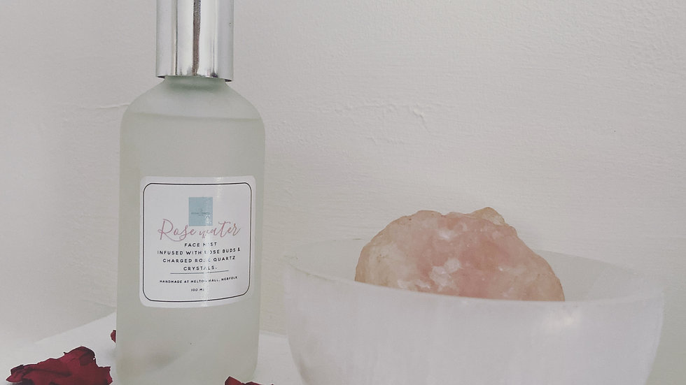 Rose Water & Charged Rose Quartz Face Mist