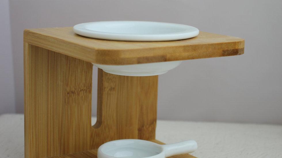 Bamboo & Ceramic Oil & Wax Melt Burner
