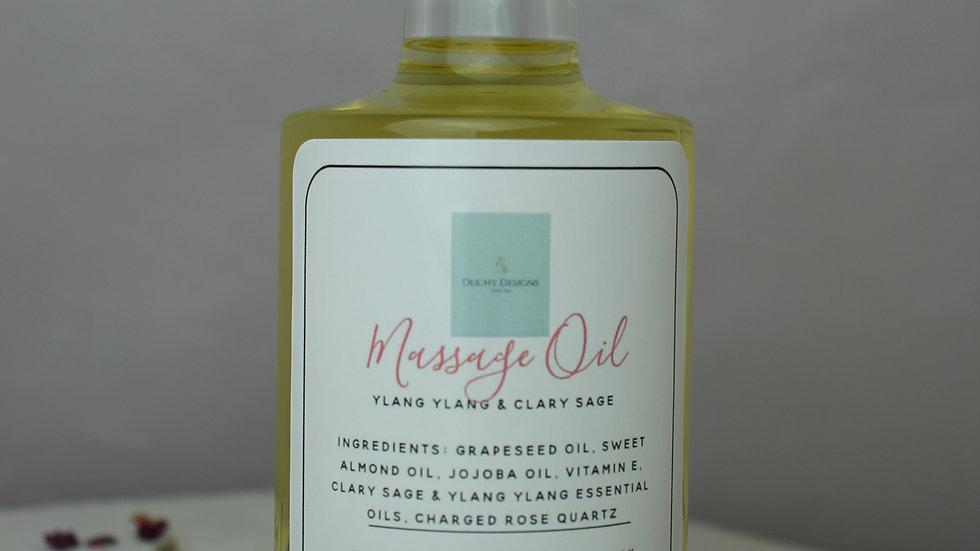Massage Oil & Jade Roller Gift Box