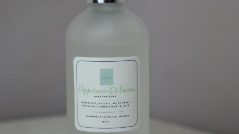 Peppermint & Lemon Hand Sanitiser.