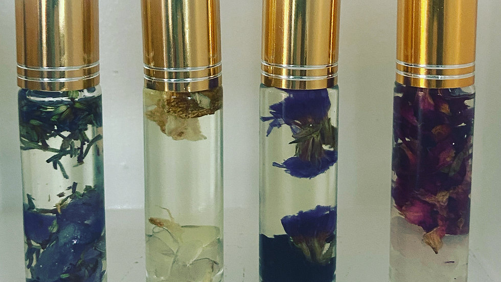 Crystal & Botanical Infused Aromatherapy Rollers