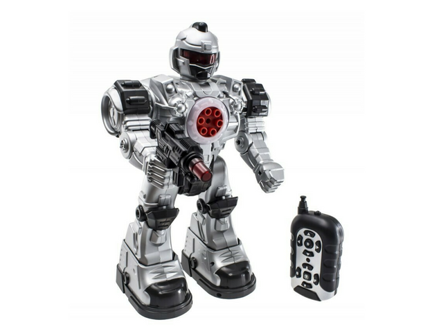 RC Robot Police Unit Toy with Flashing Lights and Sounds