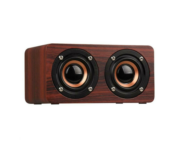 Retro Wooden Design Portal Bluetooth Speaker