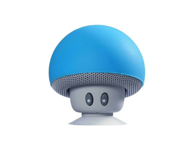 Portable Wireless Mushroom Bluetooth Speaker w/Built-in Mic & Suction Cup