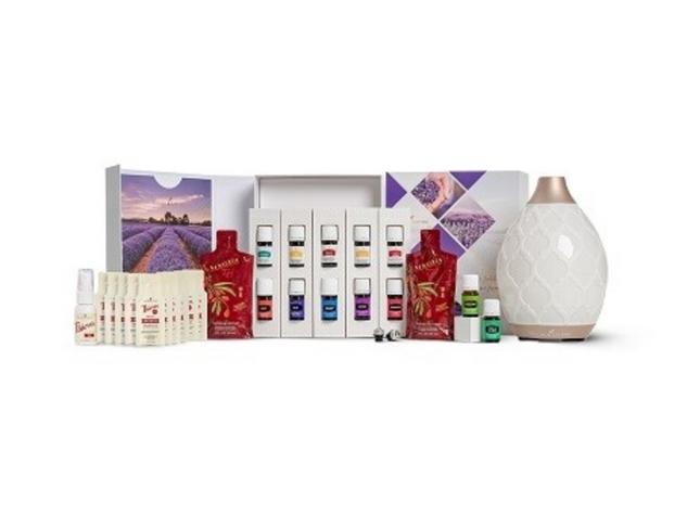 Premium Essential Oils Starter Kit w/Desert Mist Diffuser
