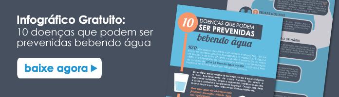 Infográfico 10 doenças que podem ser prevenidas bebendo água