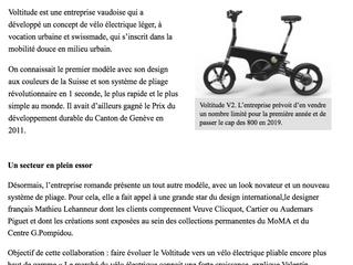 Voltitude lance le vélo électrique de luxe