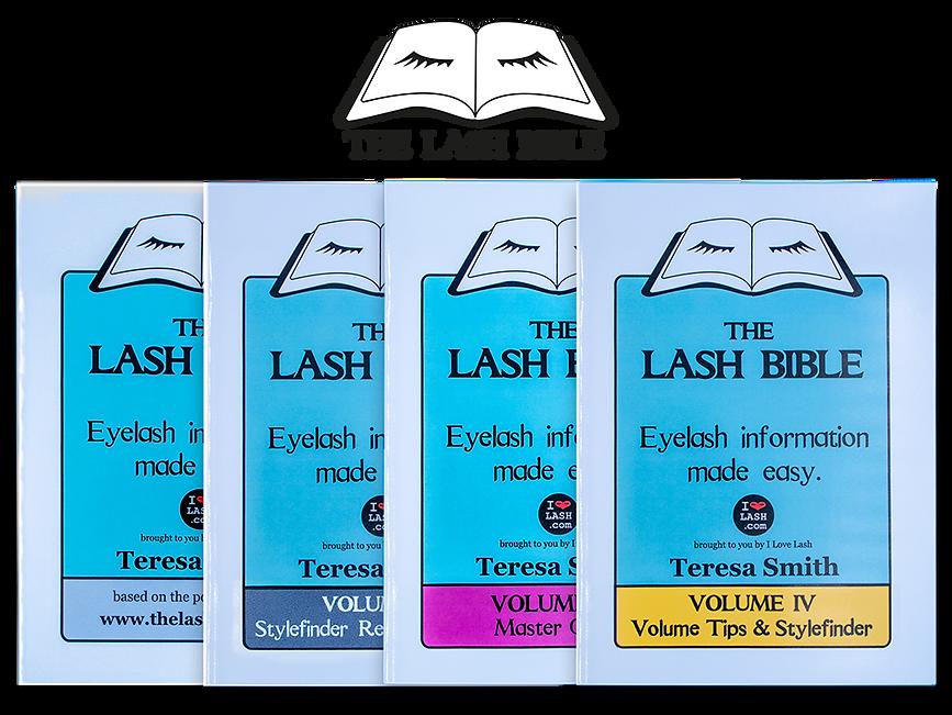 LashBible _all four books transparent we