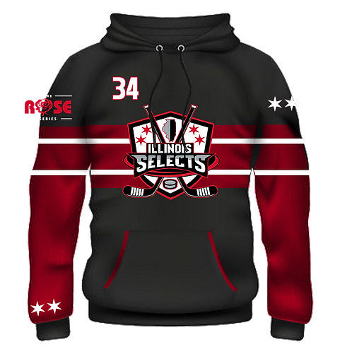Illinois Selects Rose Series Sublimated Hoodie