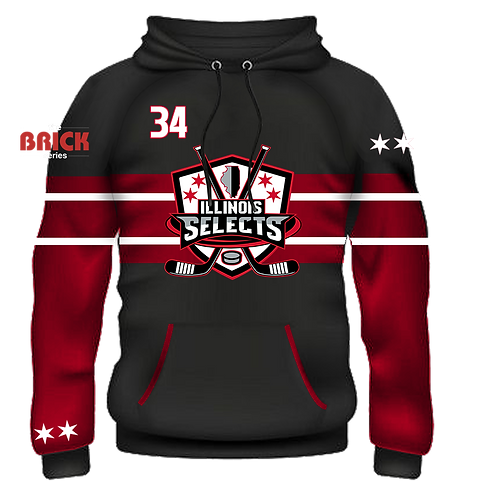 Illinois Selects Brick Series Sublimated Hoodie