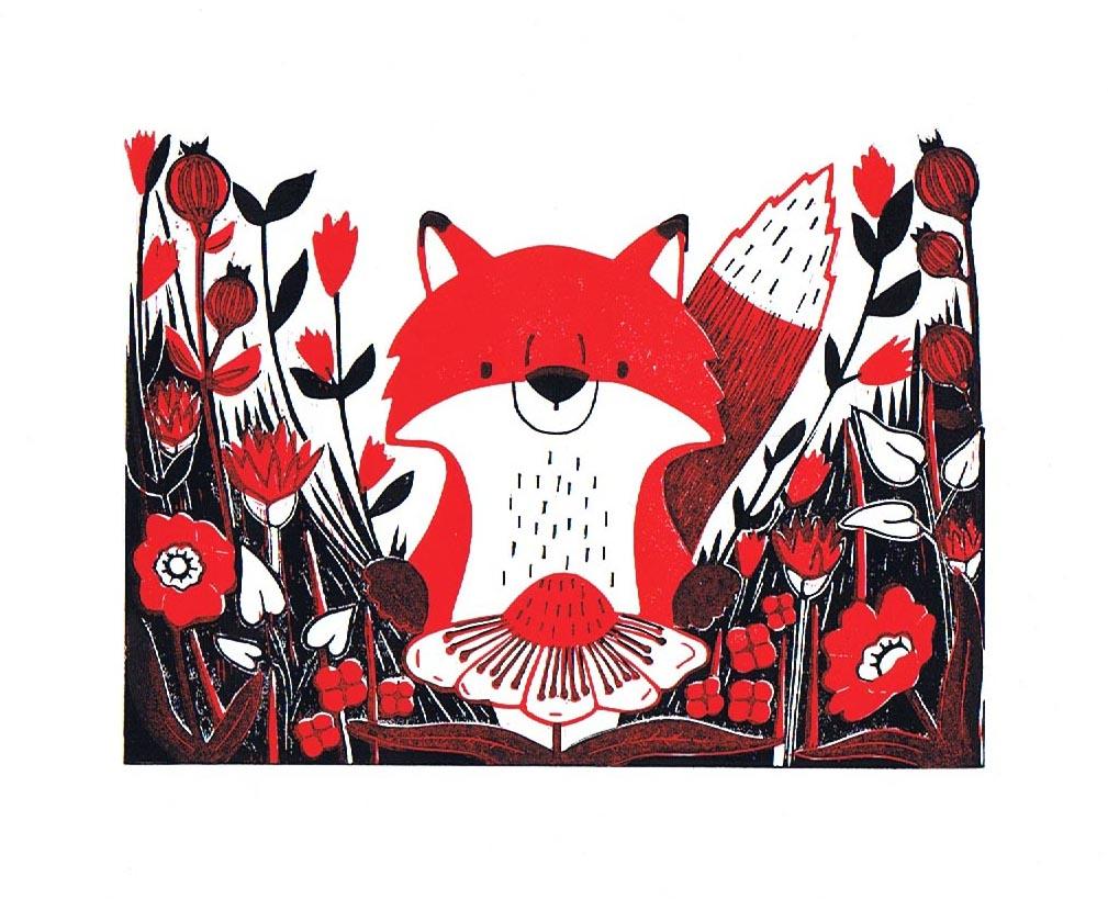 Flower Foraging Fox
