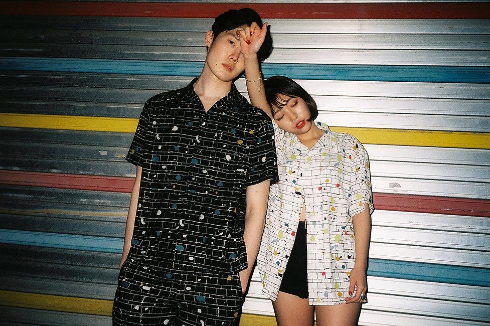 Ilgi Subway Tiles Print Lookbook Shoot in Seoul