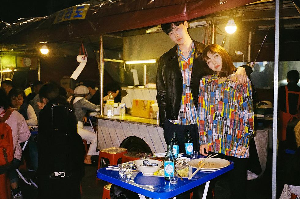 Ilgi Market Bag Plaid Print Lookbook Shoot in Seoul