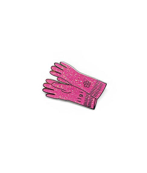 Pink Gloves Enamel Pin