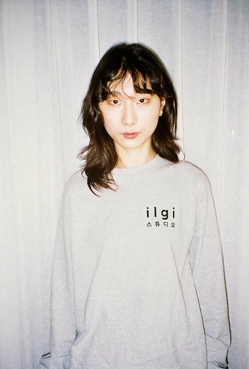 """About"" Logo Long Sleeve Tee - Grey"
