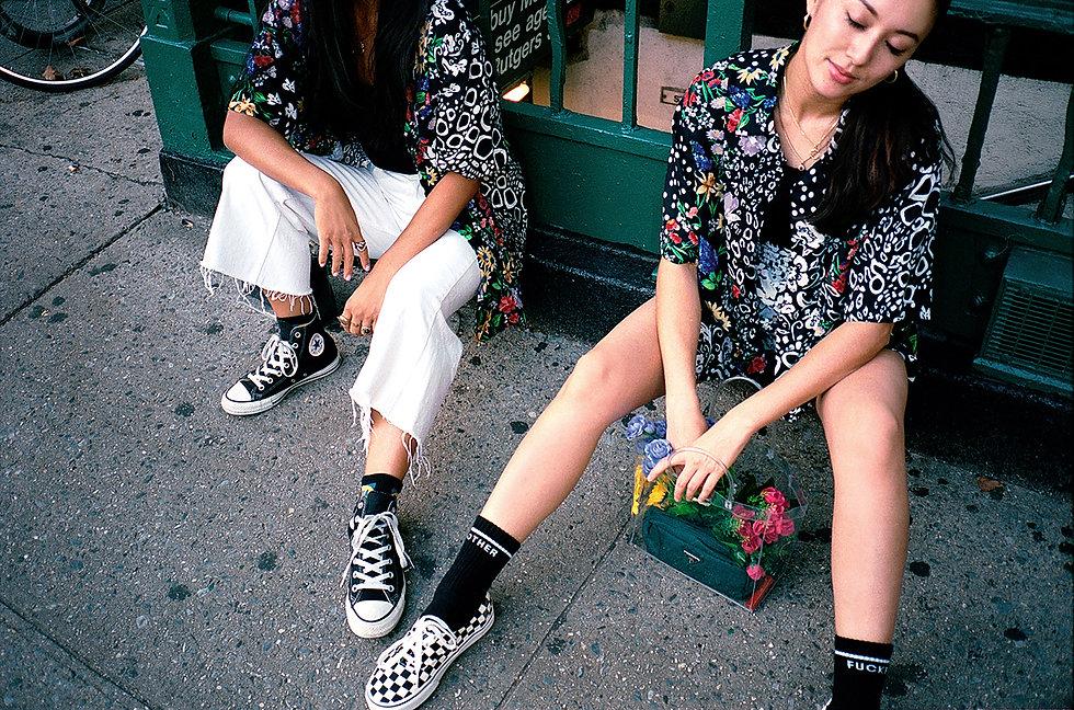 Ilgi Pojangmacha Floral Print Lookbook Shoot in New York City