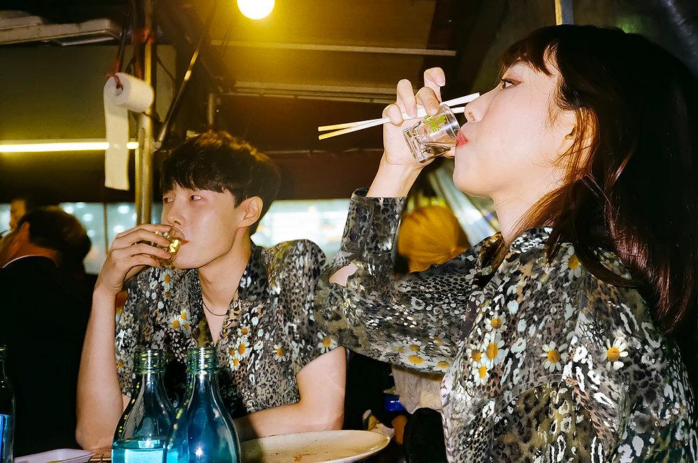 Ilgi Leopard Daisy Print Shirt Lookbook Shoot in Seoul
