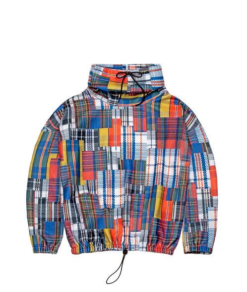 Market Bag Plaid Fleece Pullover