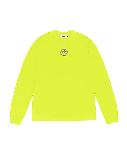 Yin Yang Reflective Logo Long Sleeve Tee - Safety Green
