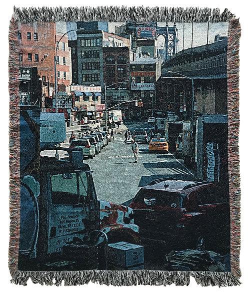 """Two Bridges"" Woven Blanket"