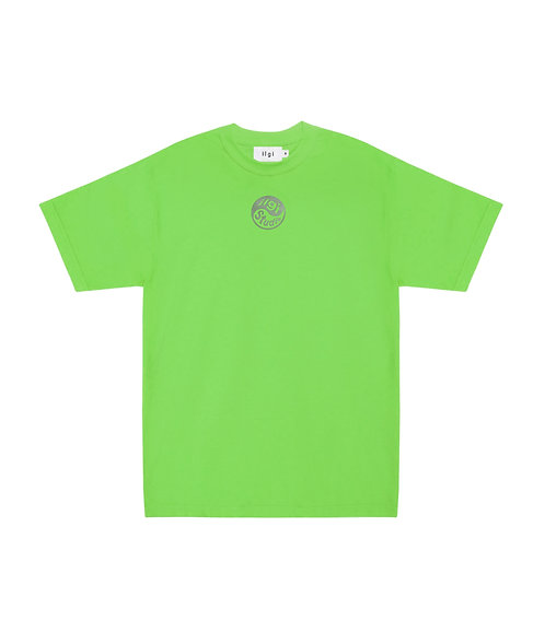 Yin Yang Reflective Logo Tee - Lime
