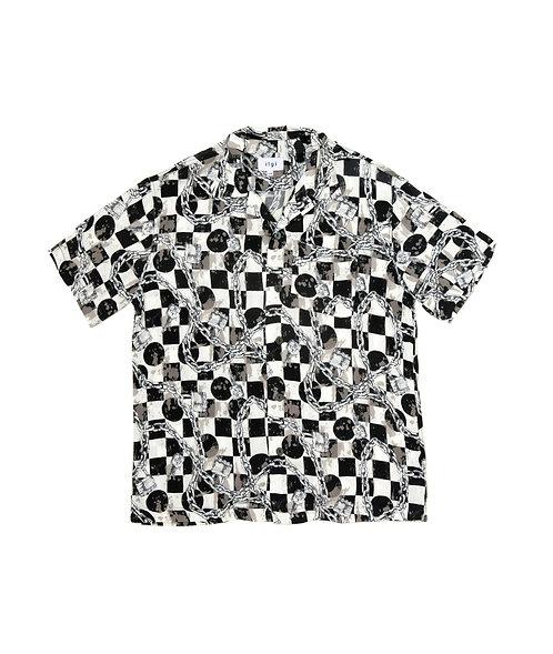 Checkered Chain Shirt - Black
