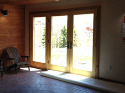 Hot Tub French Doors Installed
