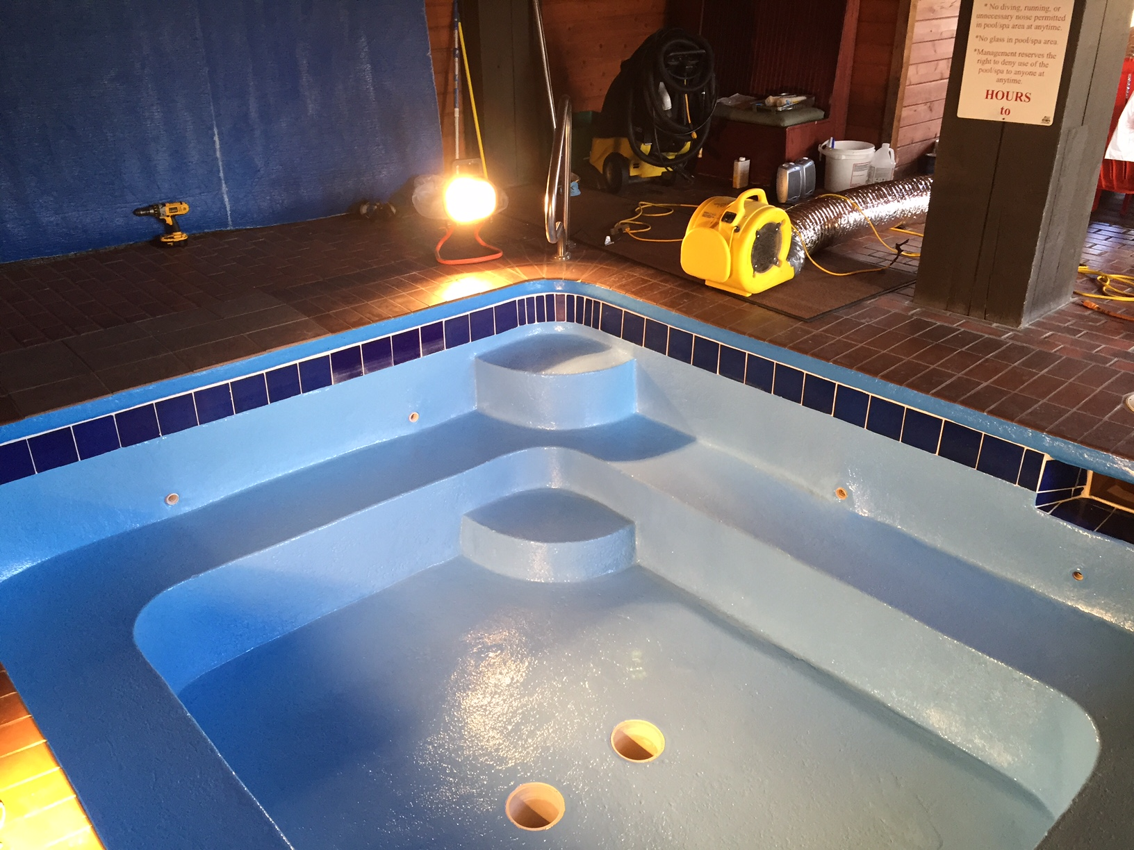 Painted The Hot Tub