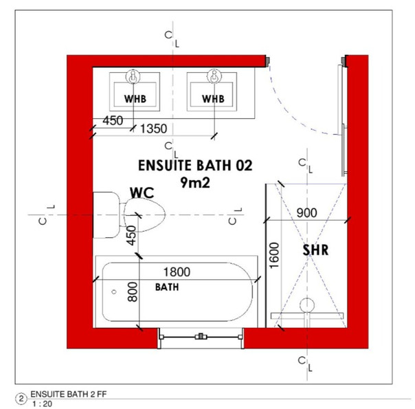 Ensuite Bathroom 02 Layout
