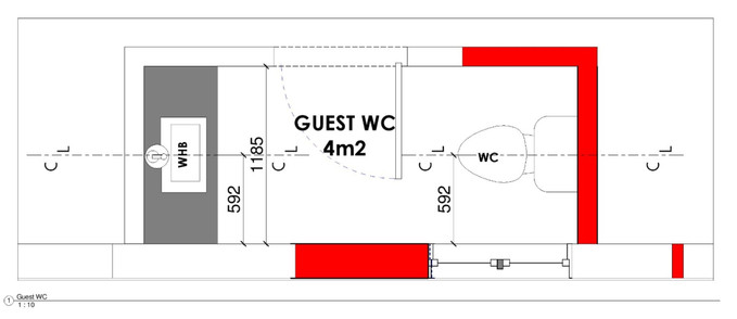Guest WC Layout