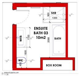Ensuite Bathroom 03 Layout