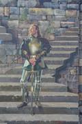 Fresque des piliers détail chevalier