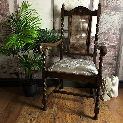 Edwardian Cane Backed Jacobethan Style Chair