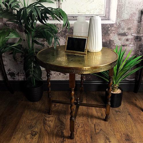 Bohemian Brass Topped Folding Table