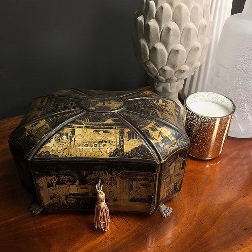 Georgian Chinoiserie Chinese Import Tea Caddy