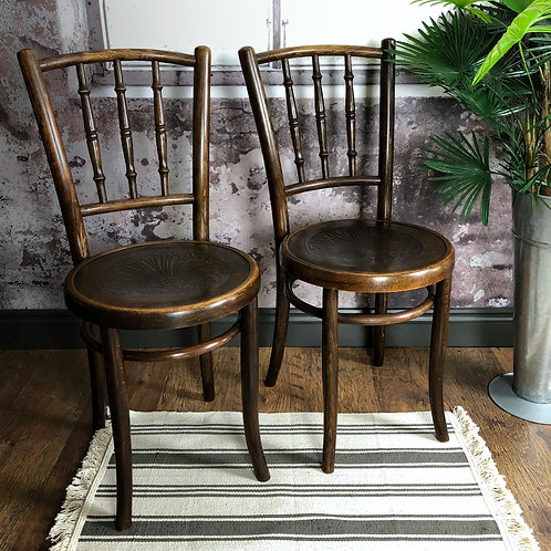 Stylish Pair Of Bentwood Chairs