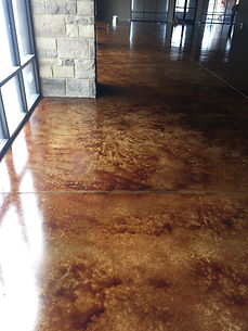 Vintage Umber Acid Stain Texas Concrete Staining